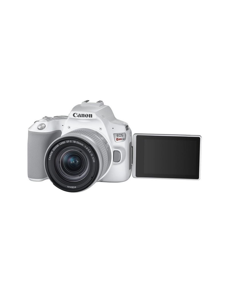 Canon EOS Rebel SL3 DSLR Camera with 18-55mm Lens - White