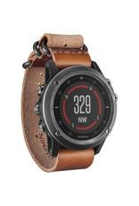 Garmin Garmin fenix 3 Sapphire Multisport Training GPS Watch - grey,leather band