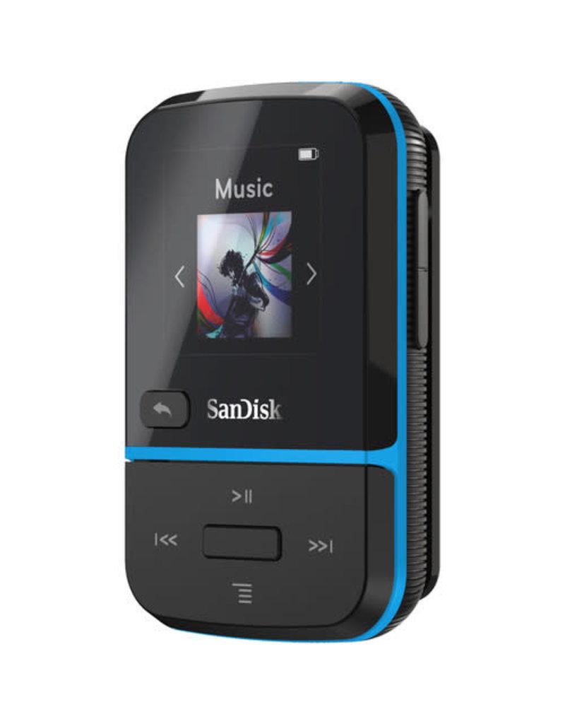 SanDisk SanDisk 32GB Clip Sport Go MP3 Player - Blue