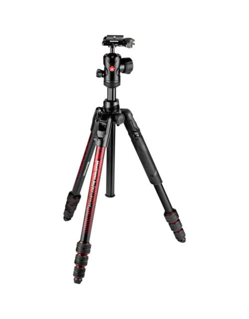 Manfrotto befree Advanced Travel Aluminum Tripod with 494 Ball Head - Red