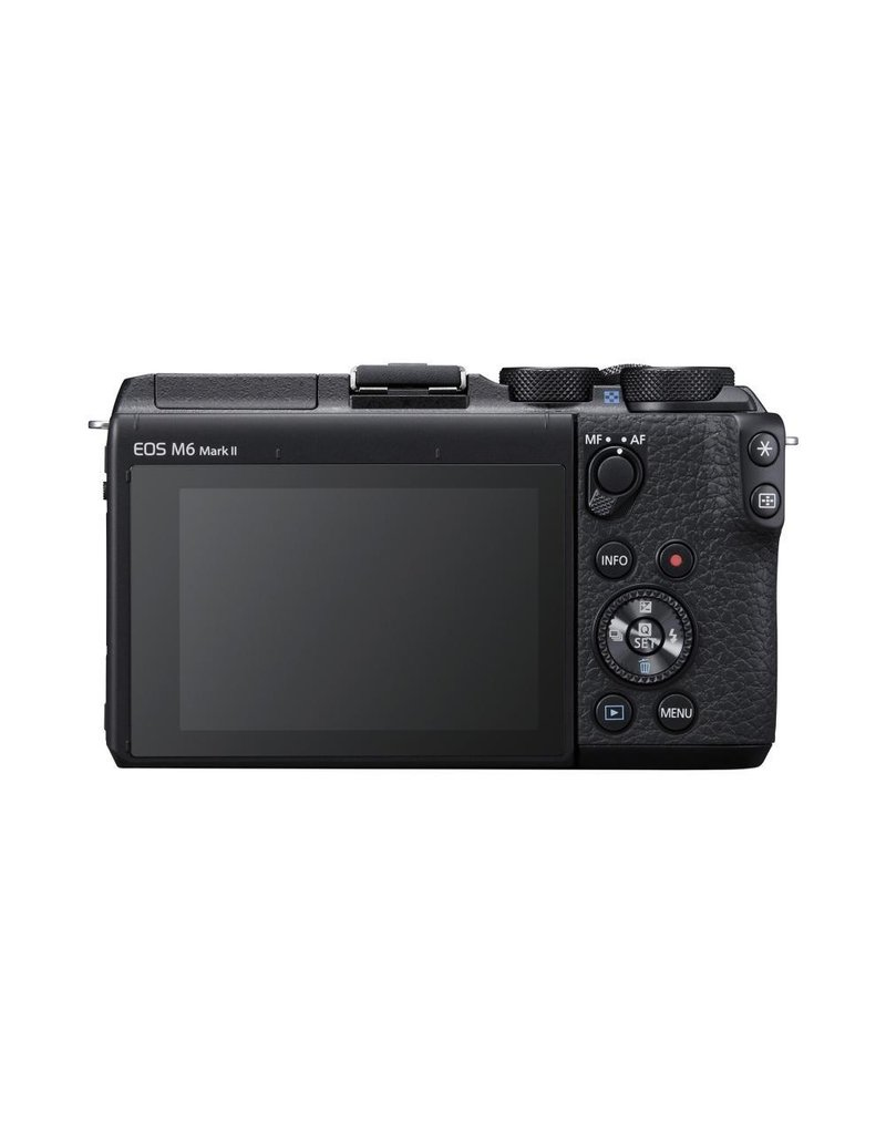 Canon EOS M6 Mark II Mirrorless Digital Camera with 15-45mm Lens and EVF-DC2 Viewfinder - Black