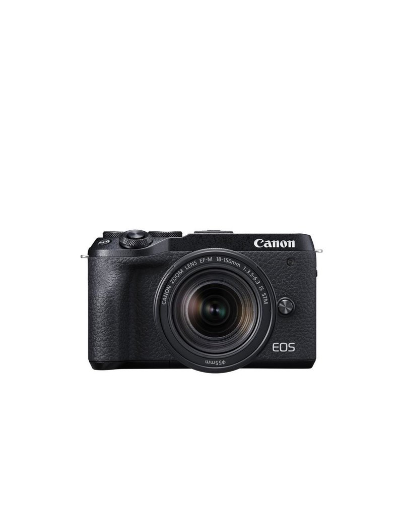 Canon EOS M6 Mark II Mirrorless Digital Camera with 18-150mm Lens and EVF-DC2 Viewfinder - Black