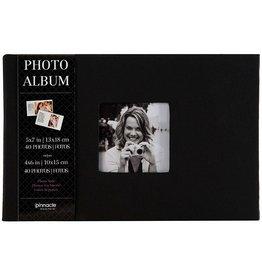 Pinnacle Album with Photo Frame 1 up - Black Cloth