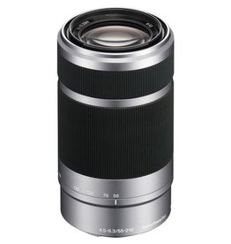 Sony SEL55210 - Telephoto zoom lens - 55 mm - 210 mm - f/4.5-6.3 OSS - Sony E-mount - Silver