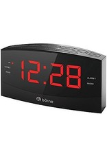 Borne CR1830 Alarm Clock Large Display 1.8 inch , AM/FM with memory presets, 2 speakers for stereo sound, high/low dimmer, aux-in