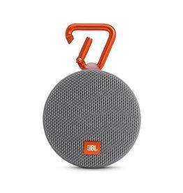 JBL Clip 2 Waterproof Portable Bluetooth Speaker, Gray