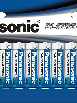 Panasonic Energy Corporation LR6XP/24B Platinum Power AA Alkaline Batteries, 24 Pack