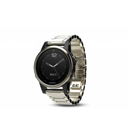 Garmin Fenix 5S Sapphire - Champagne with Metal Band