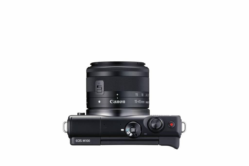 Canon EOS M100 Appareil photo numérique sans miroir avec 15-45mm Objectif - Noir