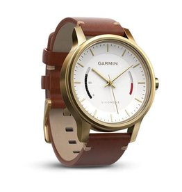 Garmin Vivomove Premium Gold Tone Steel with Leather56