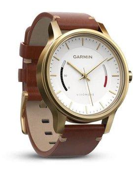 Garmin Vivomove Premium Gold Tone Steel with Leather56