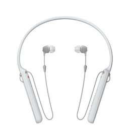 Sony WI-C400- Earphones with mic - in-ear - behind-the-neck mount - Bluetooth - wireless - NFC - White