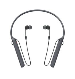 Sony WI-C400 - Earphones with mic - in-ear - behind-the-neck mount - Bluetooth - wireless - NFC - black