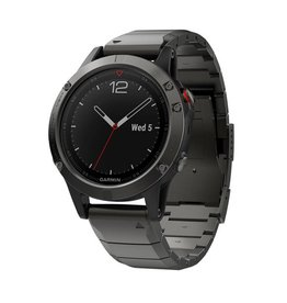 Garmin fenix 5 Sapphire Edition Multi-Sport Training GPS Watch (Slate Gray, Metal Band)