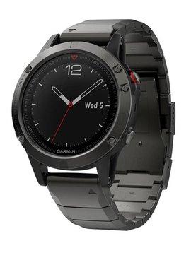 Garmin fenix 5 Sapphire Edition Multi-Sport Training GPS Watch (Slate Gray, Metal Band)