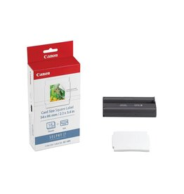 "Canon KC-18IS carte carré étiquette encre/Lot de feuilles  2.1 x 3.4""  (18 feuilles))"
