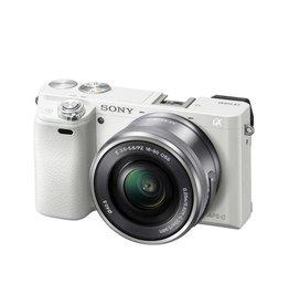 Sony Alpha a6000 ILCE6000L/W Appareil à monture E avec capteur APS-C avec 16-50mm objectif-blanc