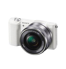 Sony Alpha a5100 ILCE5100L/W Appareil photo à monture E avec capteur APS-C avec 16-50mm objectif-blanc