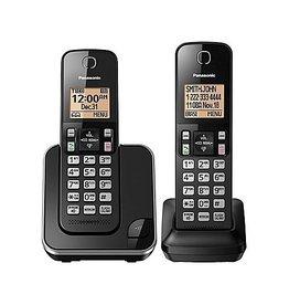 Panasonic KXTGC382B 2 handset Cordless phone