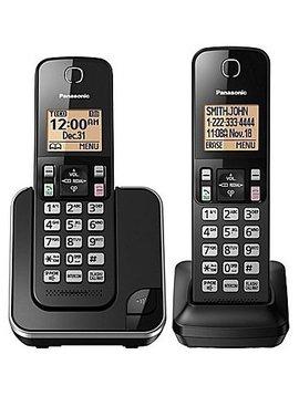 Panasonic KXTGC382B 2 handset Téléphone sans fil