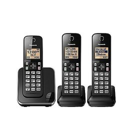Panasonic KXTGC383B 3 handset Téléphone sans fil