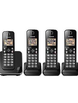 Panasonic KXTGC384B 4 handset Téléphone sans fil
