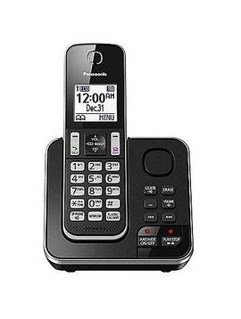 Panasonic KXTGD390B 1 handset Téléphone  sans fil avec répondeur