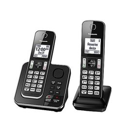 Panasonic KXTGD392B 2 handset Cordless phone with answering system
