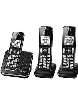 Panasonic KXTGD393B 3 handset cordless phone with answering system