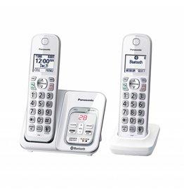 Panasonic KXTGD592W 2 handset Cordless phone - White
