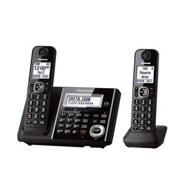 Panasonic KXTGF342B 2 handset cordless phone with base