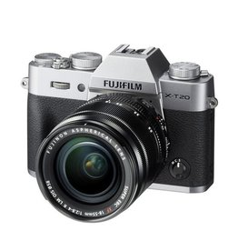 FujiFilm X-T20 Mirrorless Camera kit with 18-55mm XF Lens - Silver