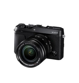 FujiFilm X-E3 Mirrorless Digital Camera Kit XF 18-55mm f/2.8-4 R LM OIS Lens - Black
