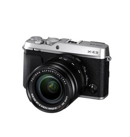 FujiFilm X-E3 Mirrorless Digital Camera Kit XF 18-55mm f/2.8-4 R LM OIS Lens - Silver