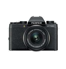 FujiFilm X-T100 Mirrorless Camera Kit with XC 15-45mm lens -  Black