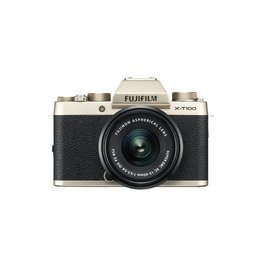 FujiFilm X-T100 Mirrorless Camera Kit with XC 15-45mm lens - Gold
