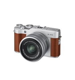 FujiFilm X-A5 Mirrorless Camera Kit with XC 15-45mm Lens - Brown