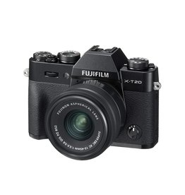 FujiFilm X-T20 Mirrorless Camera Kit with XC 15-45mm Lens - Black