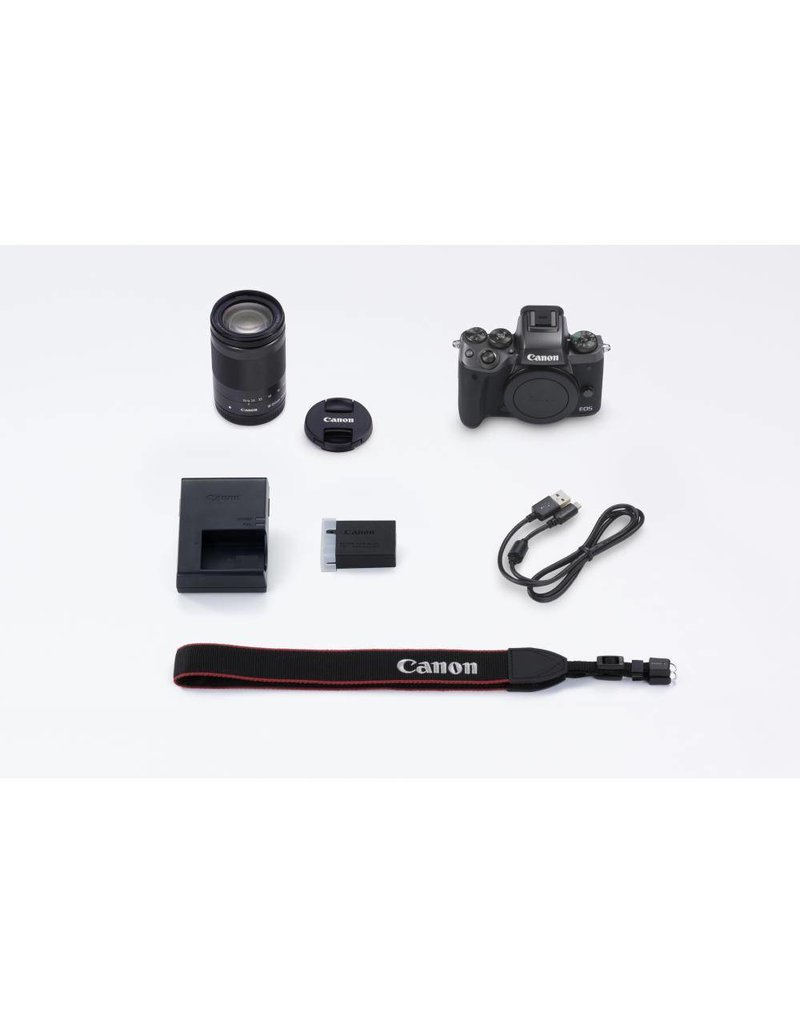 Canon EOS M5 Mirrorless Digital Camera with 18-150 mm Lens Kit -Black