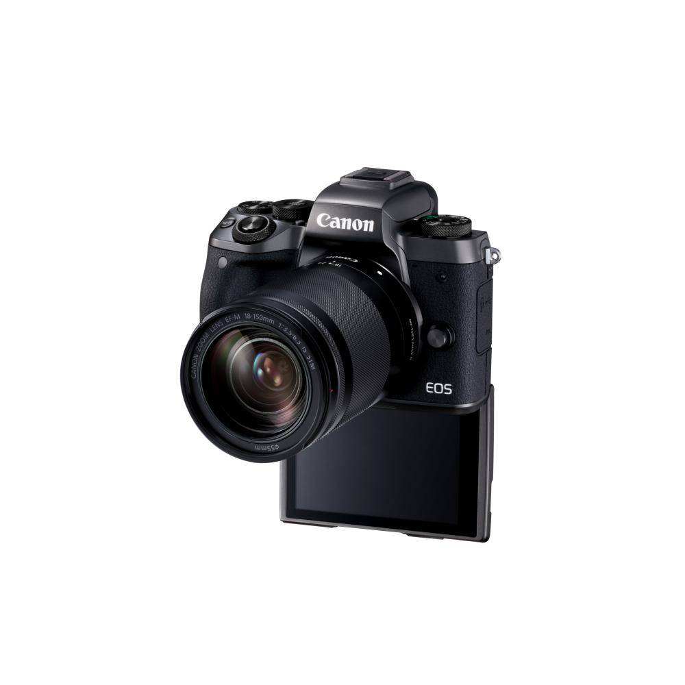 Canon EOS M5 Appareil photo numérique sans miroir avec 18-150 mm objectif Kit -Noir