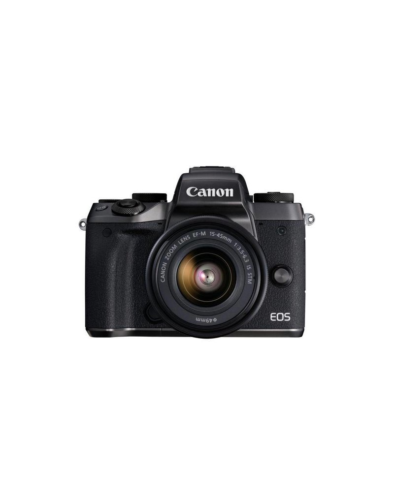 Canon EOS M5 Mirrorless Digital Camera with 15-45 mm Lens Kit -Black