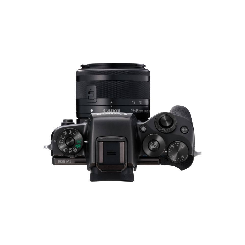 Canon EOS M5 Mirrorless Digital Camera with 15-45 mm Lens Kit -Black