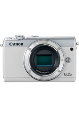 Canon EOS M100 Mirrorless Digital Camera with 15-45mm Lens - White