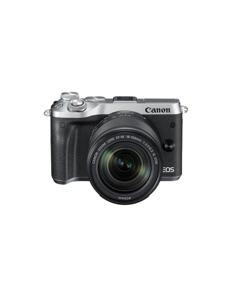 Canon EOS M6 Mirrorless Digital Camera with 18-150mm Lens - Silver