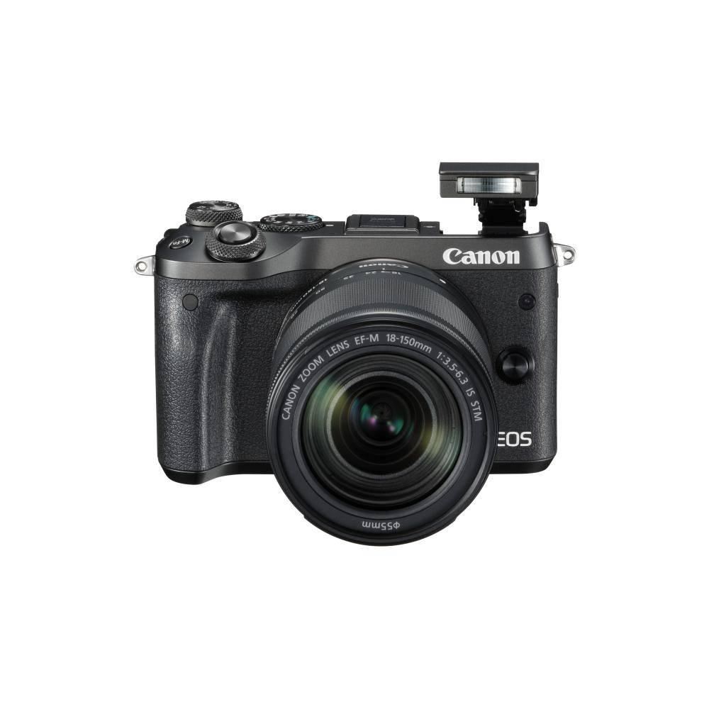 Canon EOS M6 Appareil photo numérique sans miroir avec 18-150mm objectif Kit - Noir