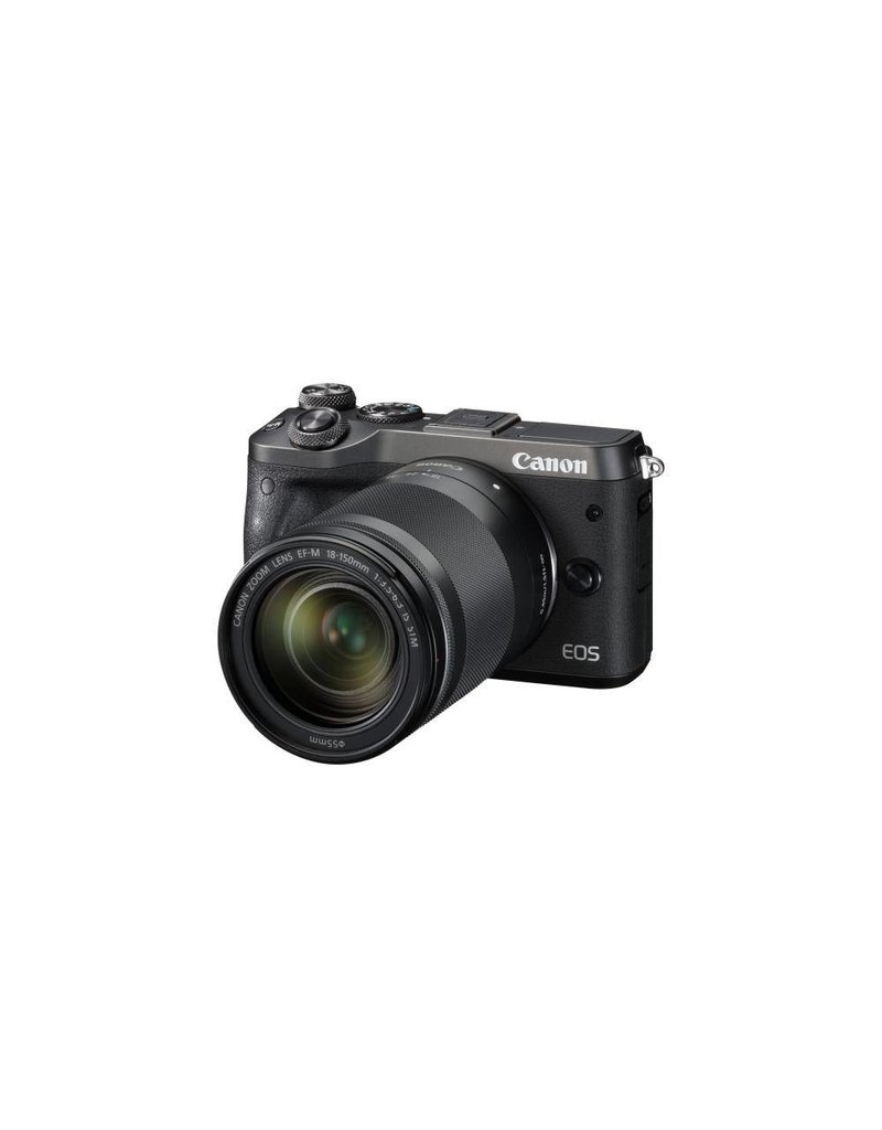 Canon EOS M6 Mirrorless Digital Camera with 18-150mm Lens Kit - Black