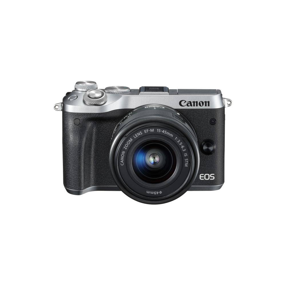 Canon EOS M6 Mirrorless Digital Camera with 15-45mm Lens Kit -Silver