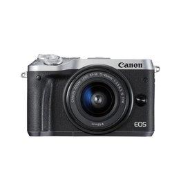 Canon EOS M6 Appareil photo numérique sans miroir avec 15-45mm Objectif Kit -Argent
