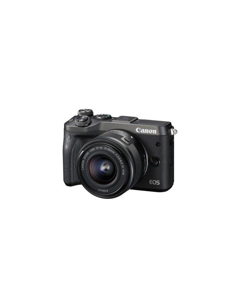 Canon EOS M6 Mirrorless Digital Camera with 15-45mm Lens Kit - Black