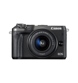 Canon EOS M6 Mirrorless Digital Camera with 15-45mm Lens Kit - Black